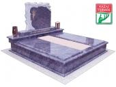 2személyes fedett gránit d sírkő-0118