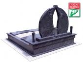 2személyes fedett gránit d sírkő-0152